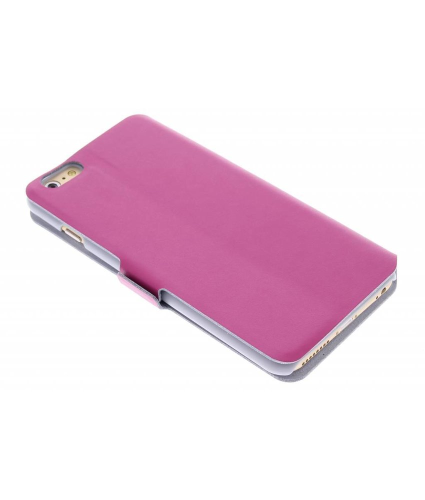 Fuchsia luxe booktype hoes iPhone 6(s) Plus