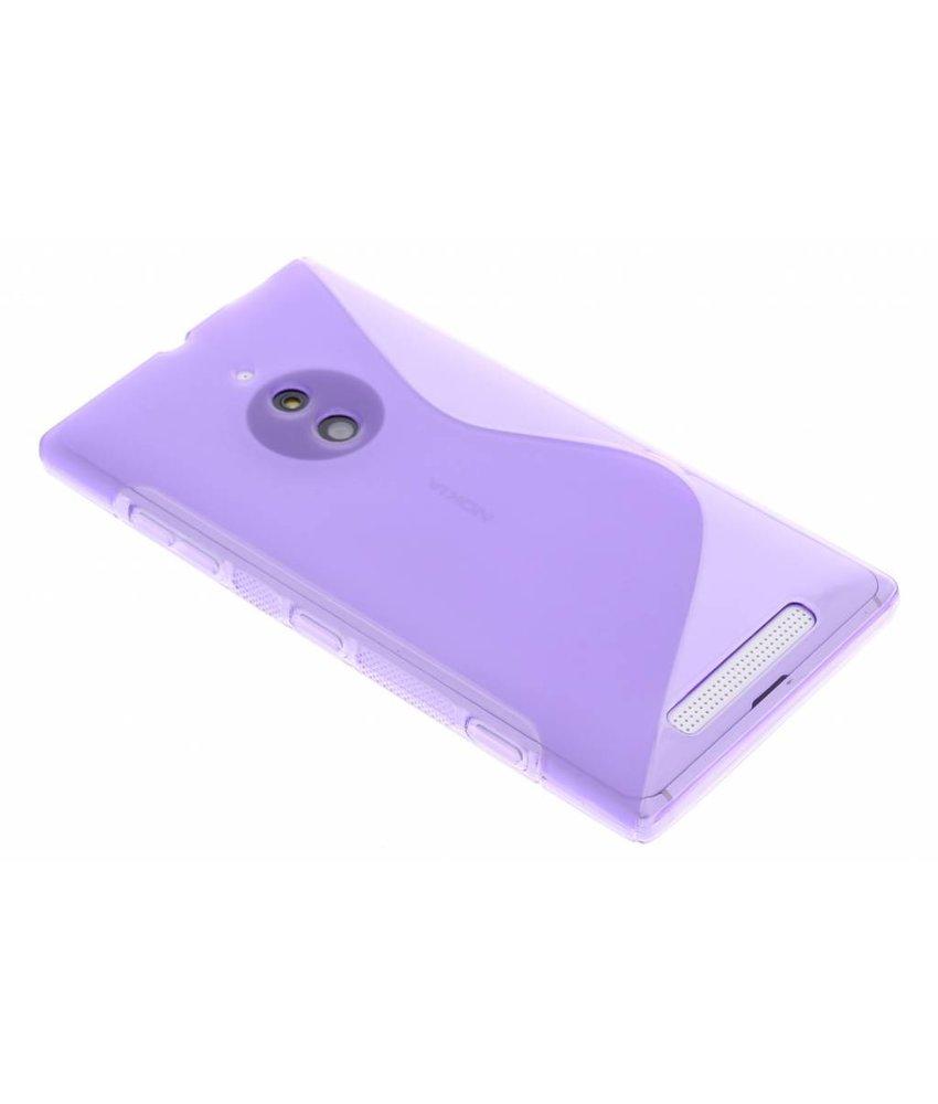 Paars S-line TPU hoesje Nokia Lumia 830