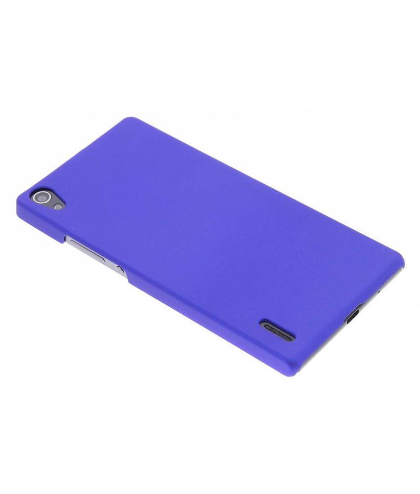 Blauw effen hardcase hoesje Huawei Ascend P7