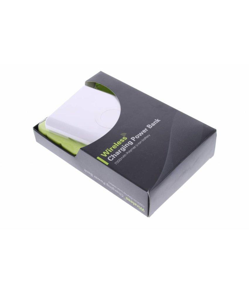 Wireless QI Powerbank 7000 mAh - wit