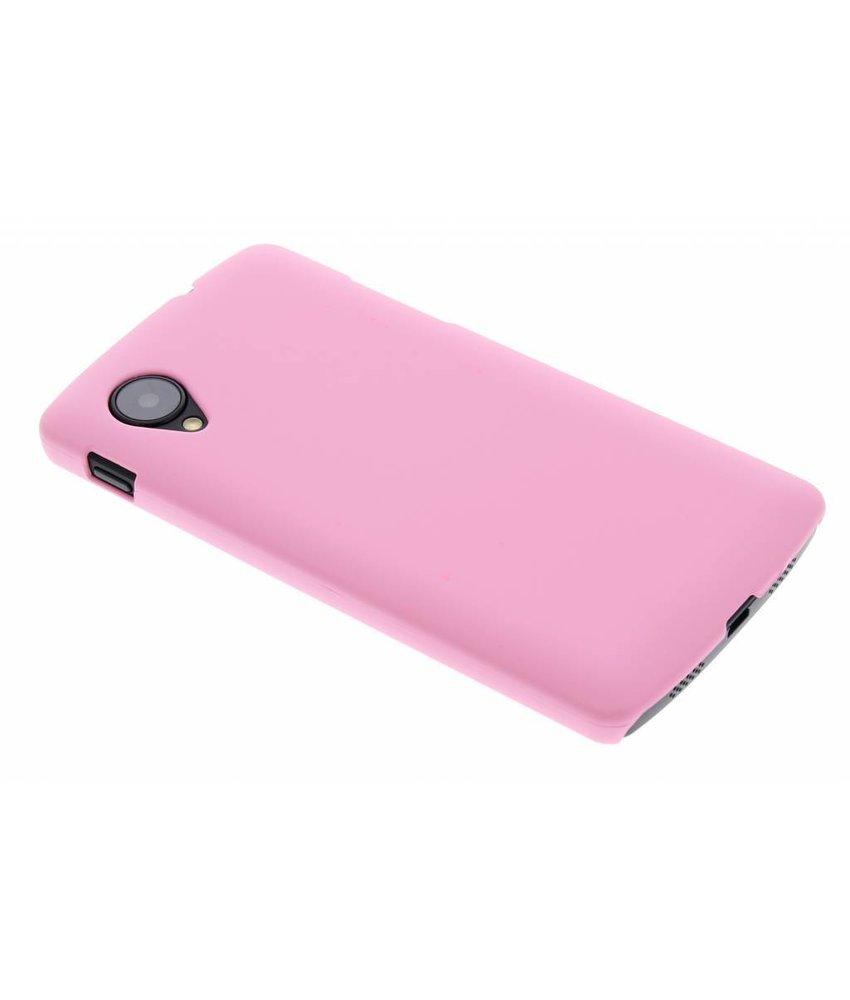 Roze effen hardcase hoesje LG Nexus 5