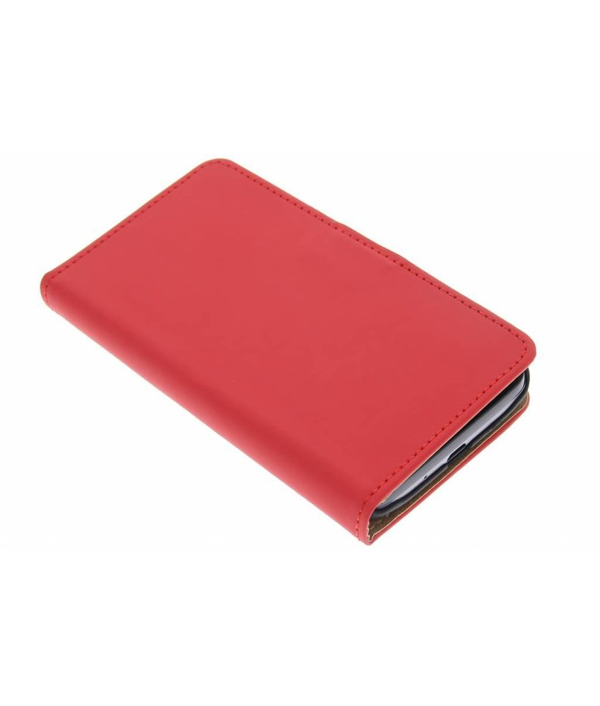 Rood effen booktype hoes LG L70 / L65