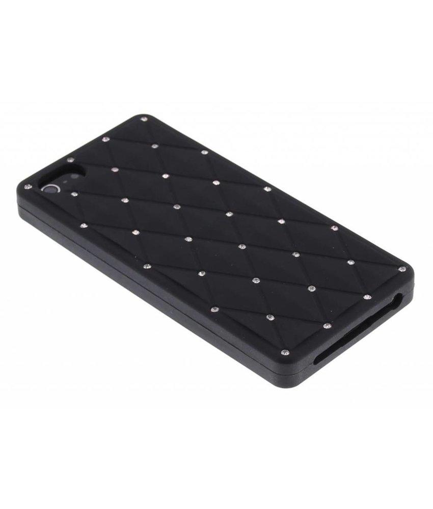 Zwart siliconen hoesje iPhone 5 / 5s / SE