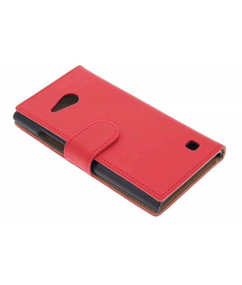 Rood effen booktype hoes Nokia Lumia 730 / 735