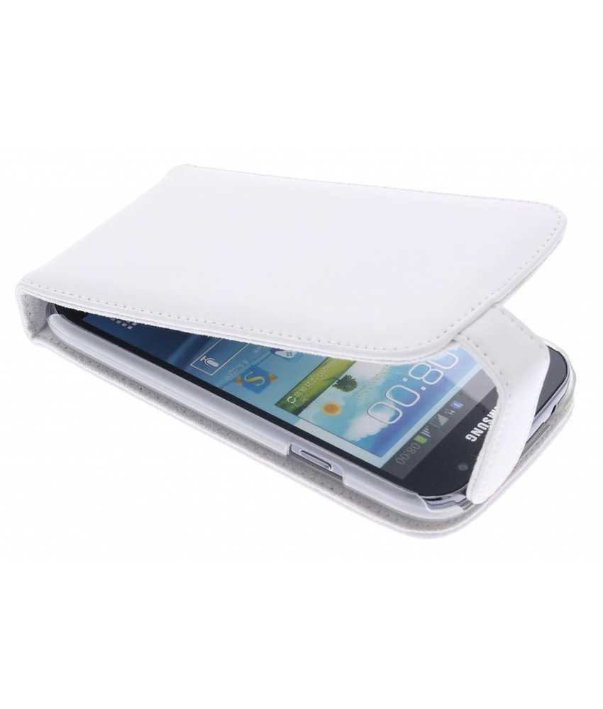 Wit stijlvolle flipcase Samsung Galaxy Grand (Neo)