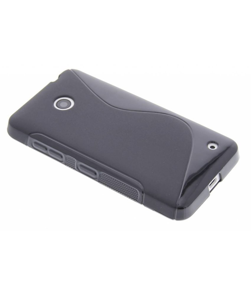 Zwart S-line TPU hoesje Nokia Lumia 630 / 635