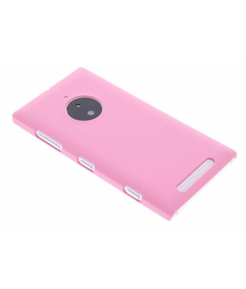 Roze effen hardcase hoesje Nokia Lumia 830
