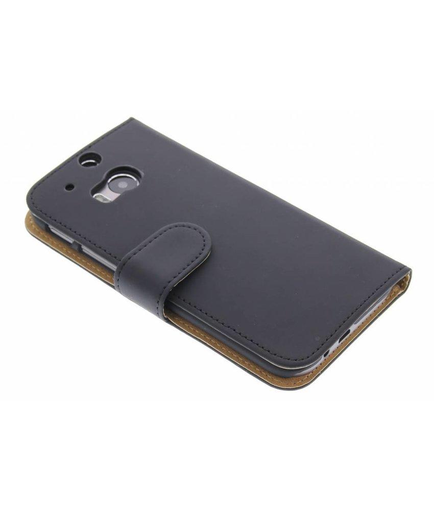 Zwart effen booktype hoes HTC One M8 / M8s