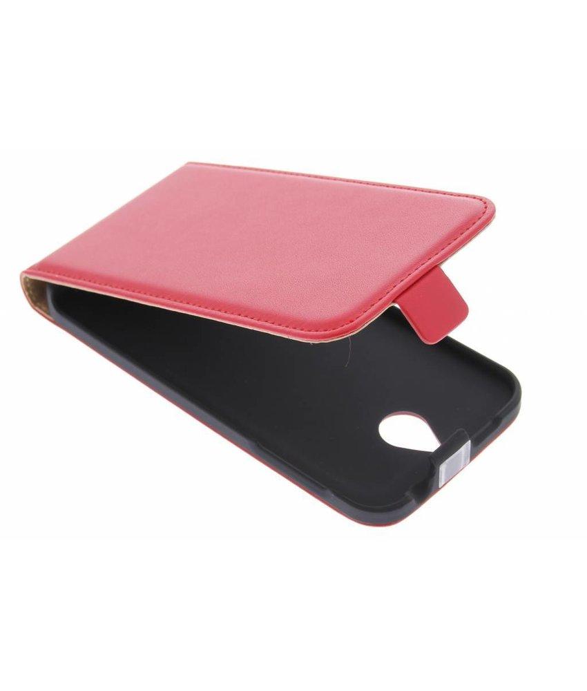 Rood luxe flipcase HTC Desire 510