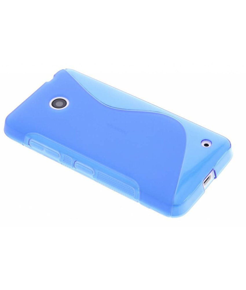 Blauw S-line TPU hoesje Nokia Lumia 630 / 635