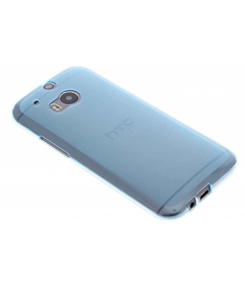 Turquoise hard siliconen hoesje HTC One M8 / M8s