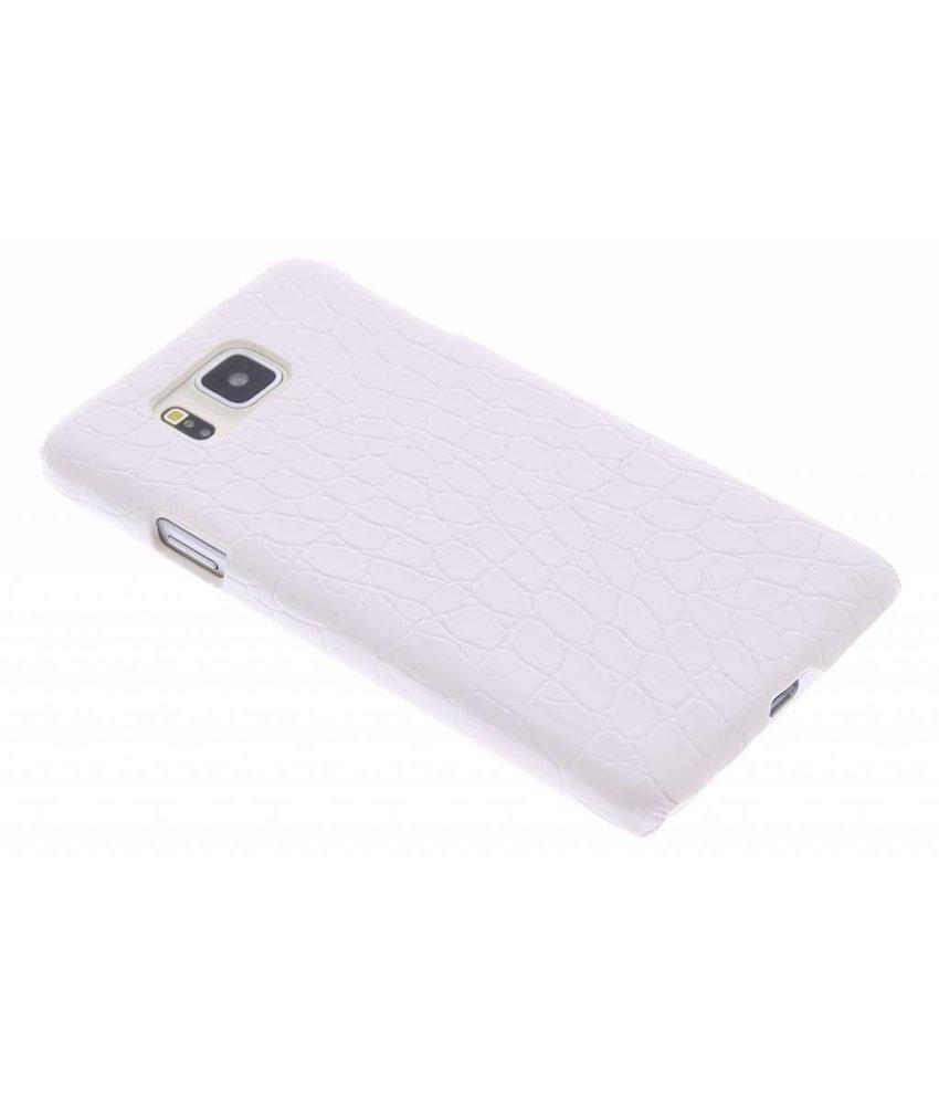 Wit krokodil design hardcase Samsung Galaxy Alpha
