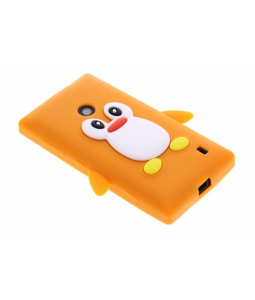Oranje pinguin siliconen hoesje Nokia Lumia 520 / 525