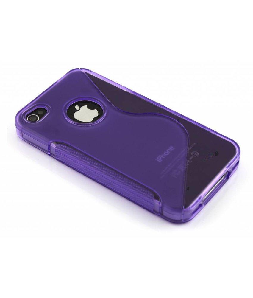 Paars S-line TPU hoesje iPhone 4(s)