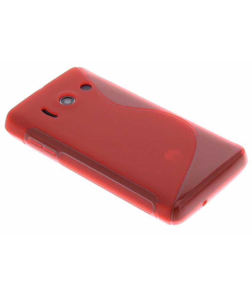Rood S-Line TPU hoesje Huawei Ascend Y300