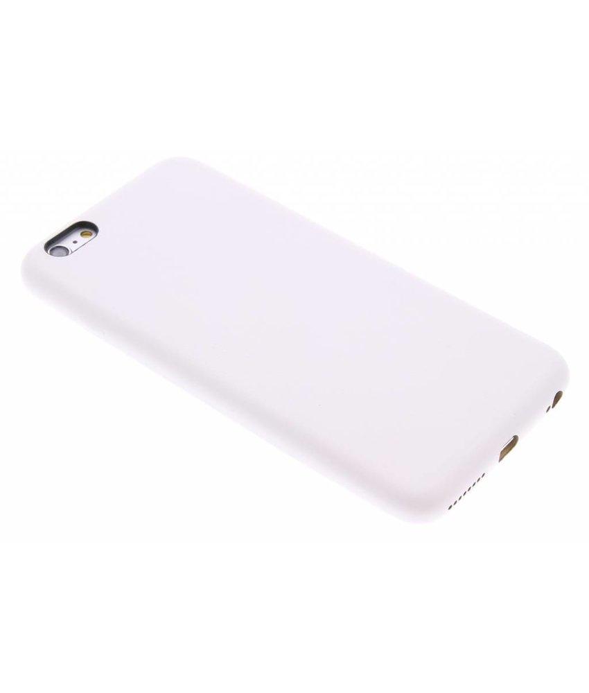 Wit lederen hardcase iPhone 6(s) Plus