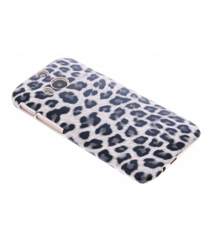 Grijs luipaard hardcase hoesje HTC One M8 / M8s