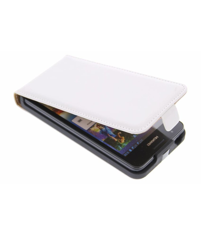 Wit luxe flipcase Huawei Ascend G510