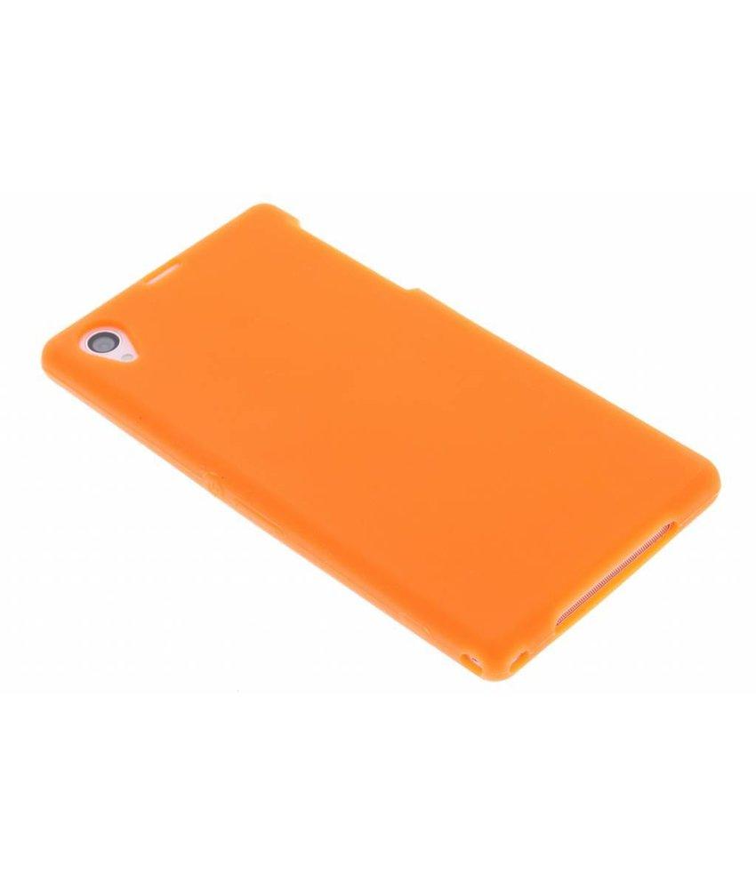 Oranje siliconen hoesje Sony Xperia Z1