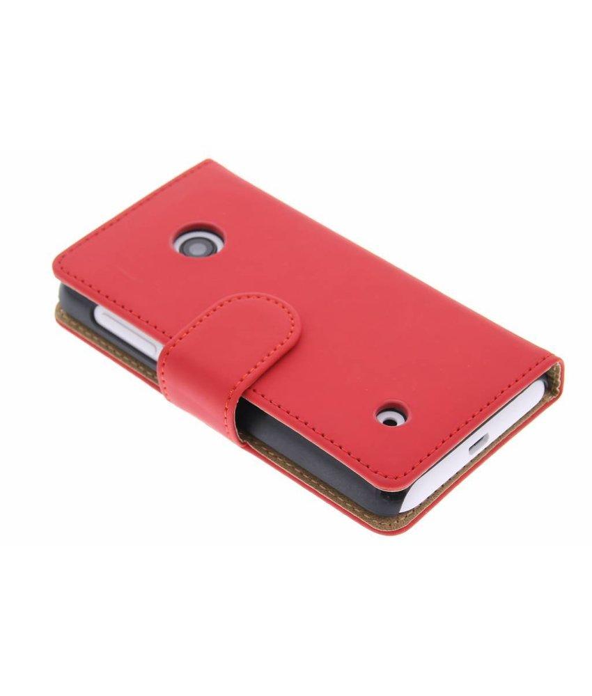 Rood effen booktype hoes Nokia Lumia 530