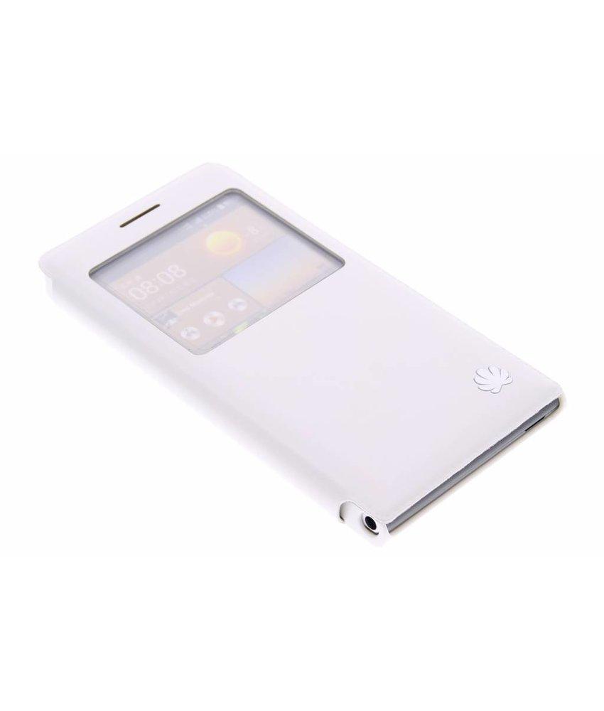 Wit slim booktype met venster Huawei Ascend G6
