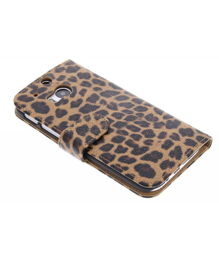 Luipaard booktype hoes HTC One M8 / M8s