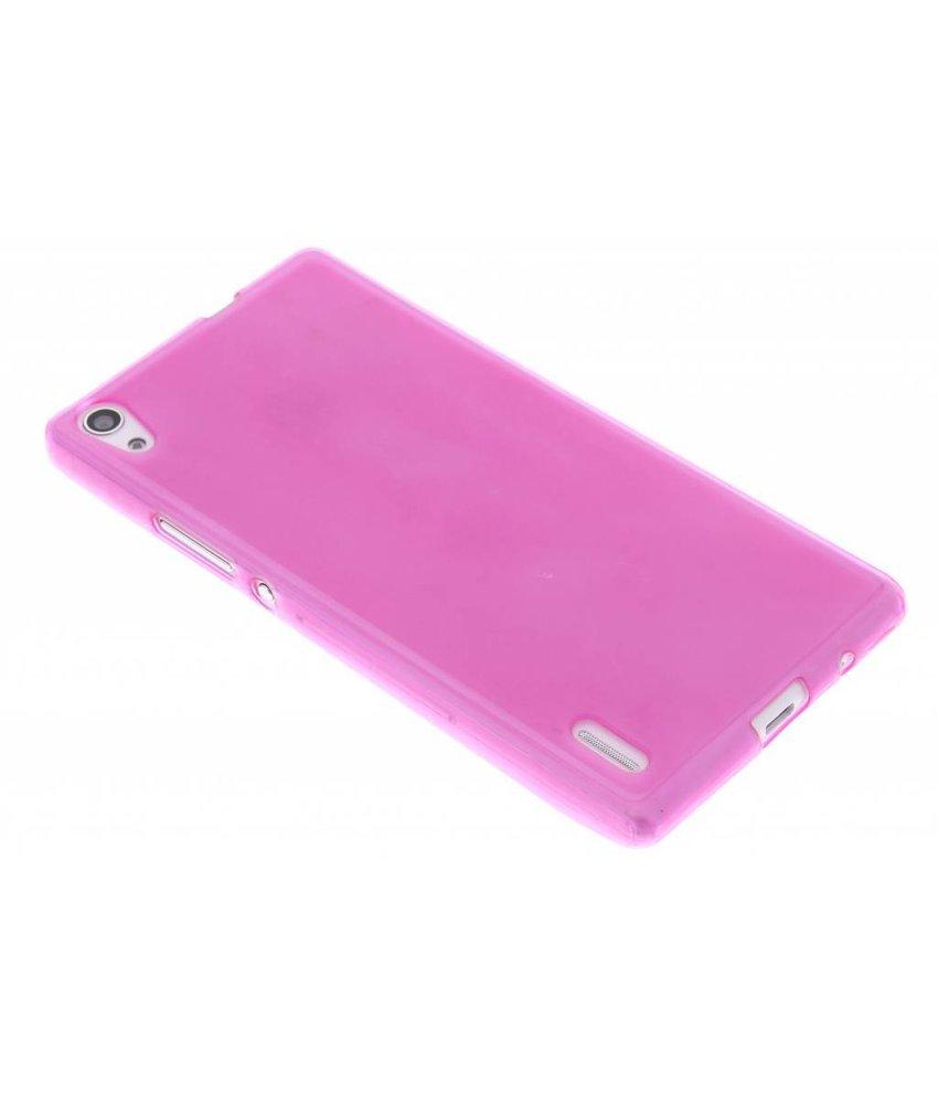 Rosé hard siliconen hoesje Huawei Ascend P7