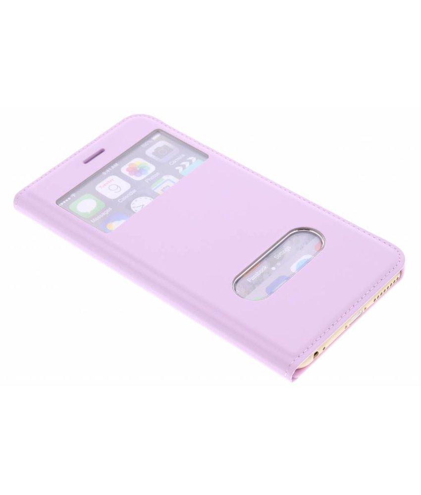 Roze luxe slim booktype iPhone 6(s) Plus