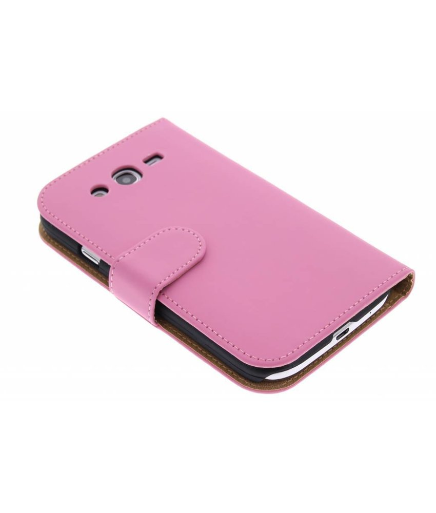 Roze effen booktype hoes Samsung Galaxy Grand (Neo)