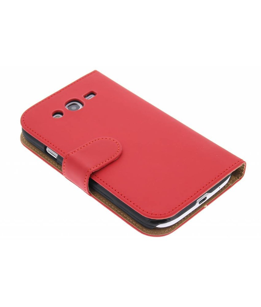Rood effen booktype hoes Samsung Galaxy Grand (Neo)