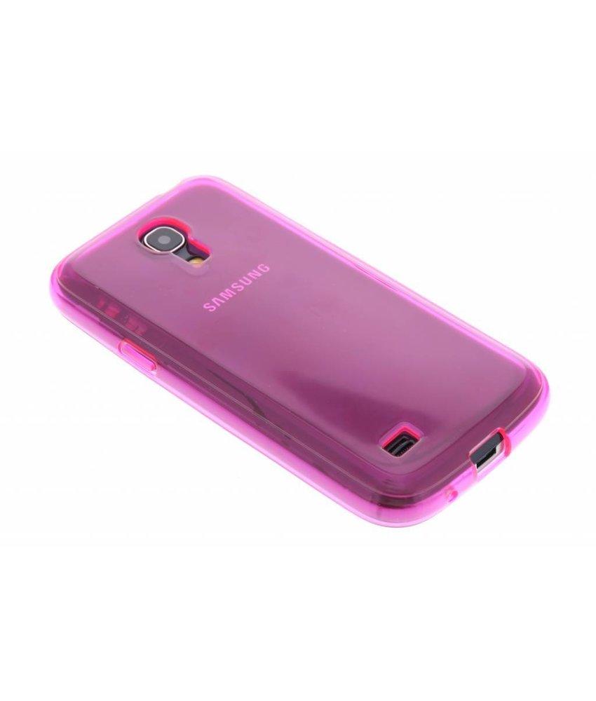 Fuchsia transparant TPU hoesje Samsung Galaxy S4 Mini