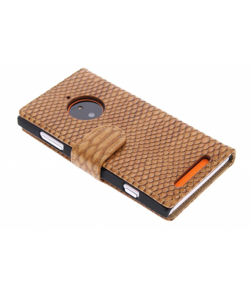 Bruin slangen booktype Nokia Lumia 830