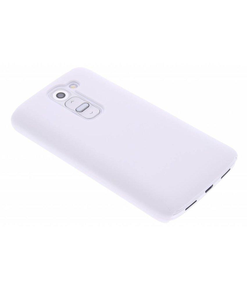 Wit effen hardcase hoesje LG G2 Mini