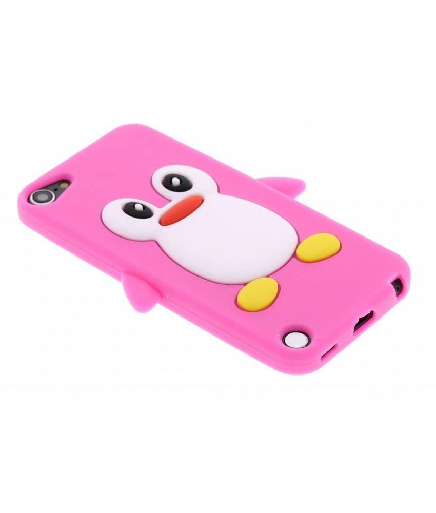 Fuchsia pinguin siliconen hoesje iPod Touch 5g / 6