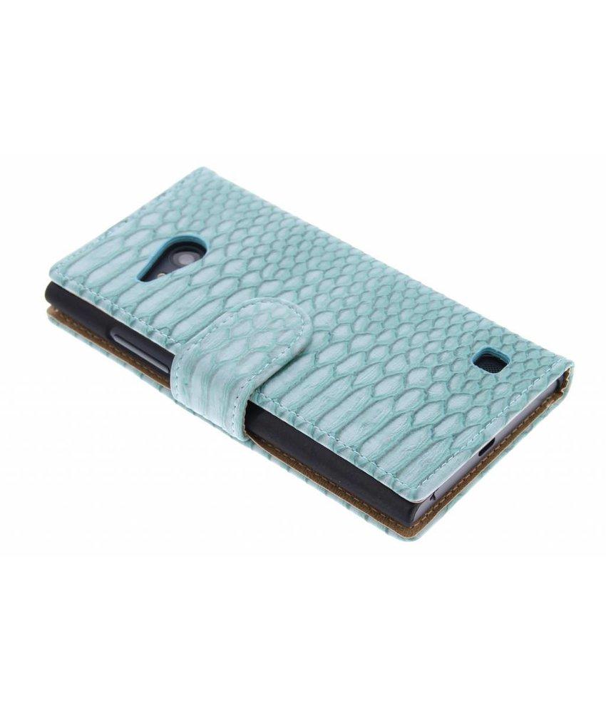 Turquoise slangen booktype Nokia Lumia 730 / 735