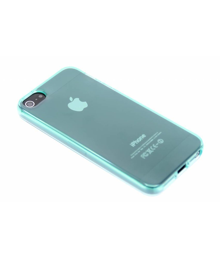 Turquoise transparant gel case iPhone 5 / 5s / SE