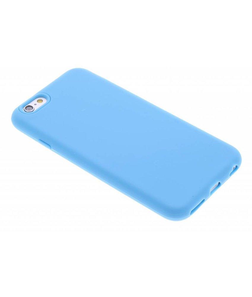 Blauw effen siliconen hoesje iPhone 6 / 6s