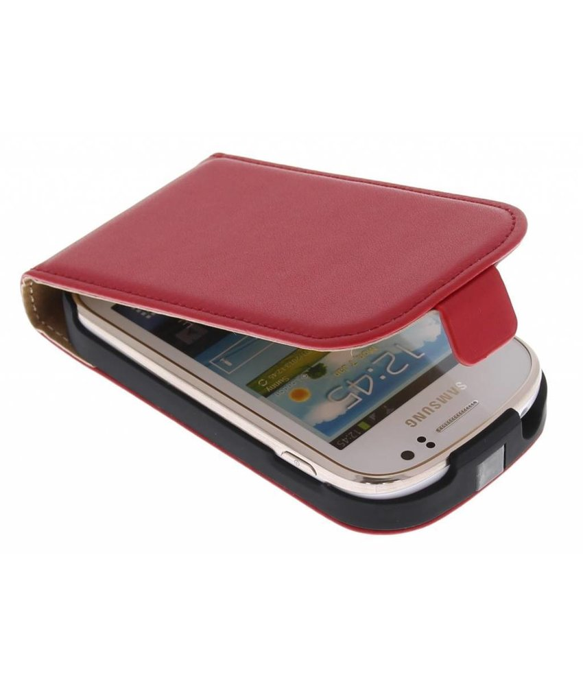 Rood luxe flipcase Samsung Galaxy Fame