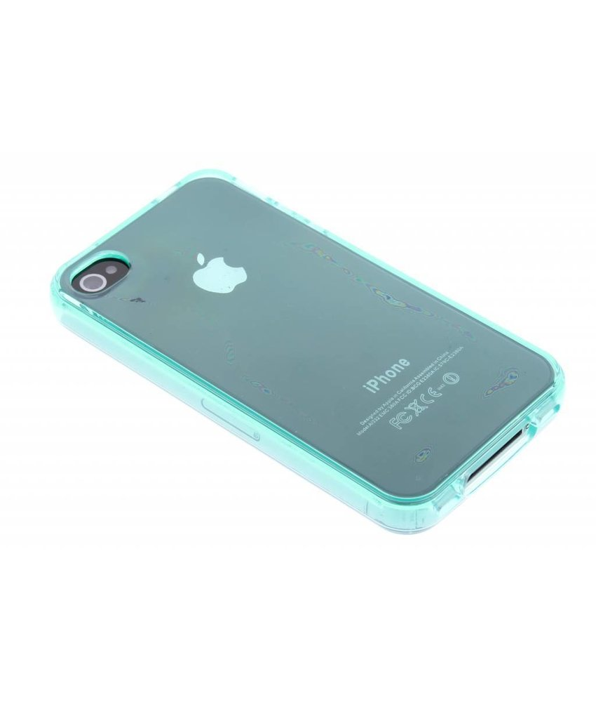 Turquoise TPU siliconen hoesje iPhone 4 / 4s