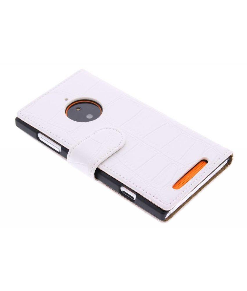 Wit krokodil booktype Nokia Lumia 830