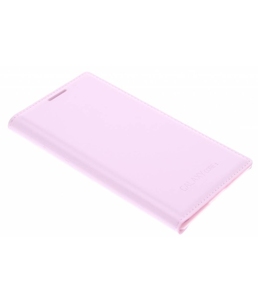 Roze flip wallet Samsung Galaxy Core 2