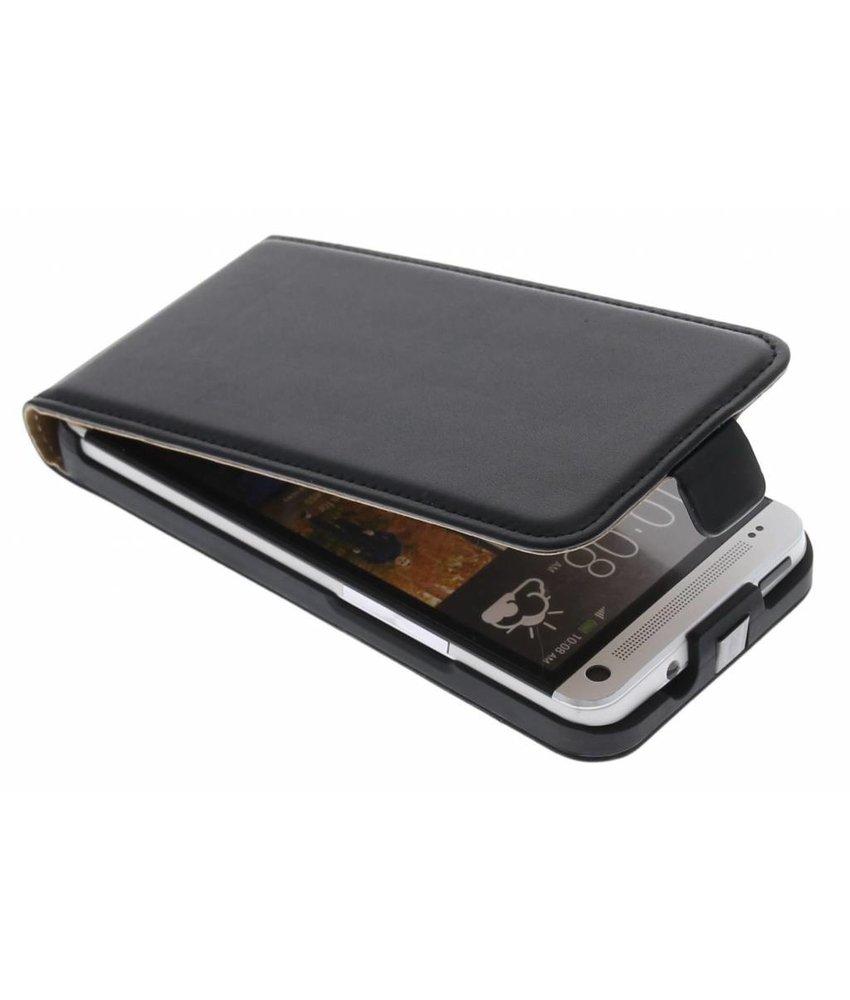 Zwart luxe flipcase HTC One
