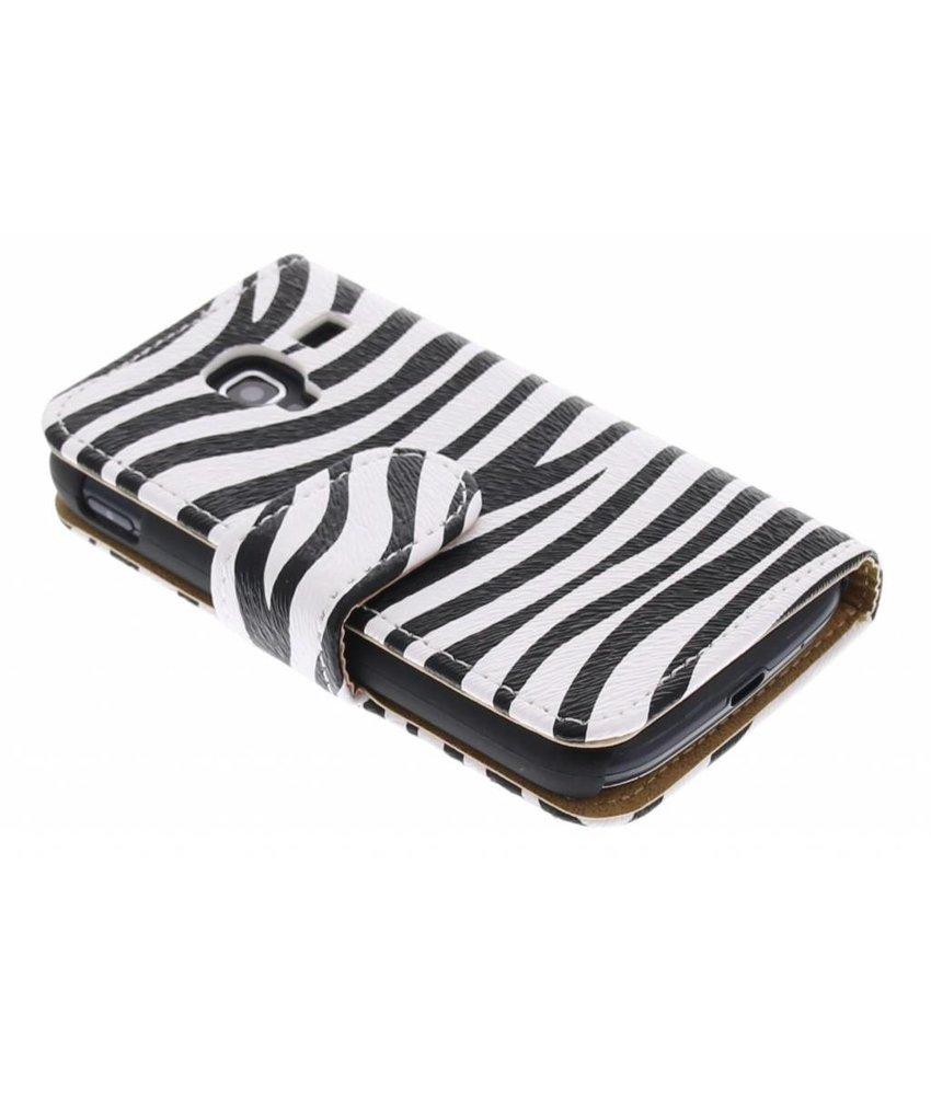Zebra booktype hoes voor Galaxy Ace 2