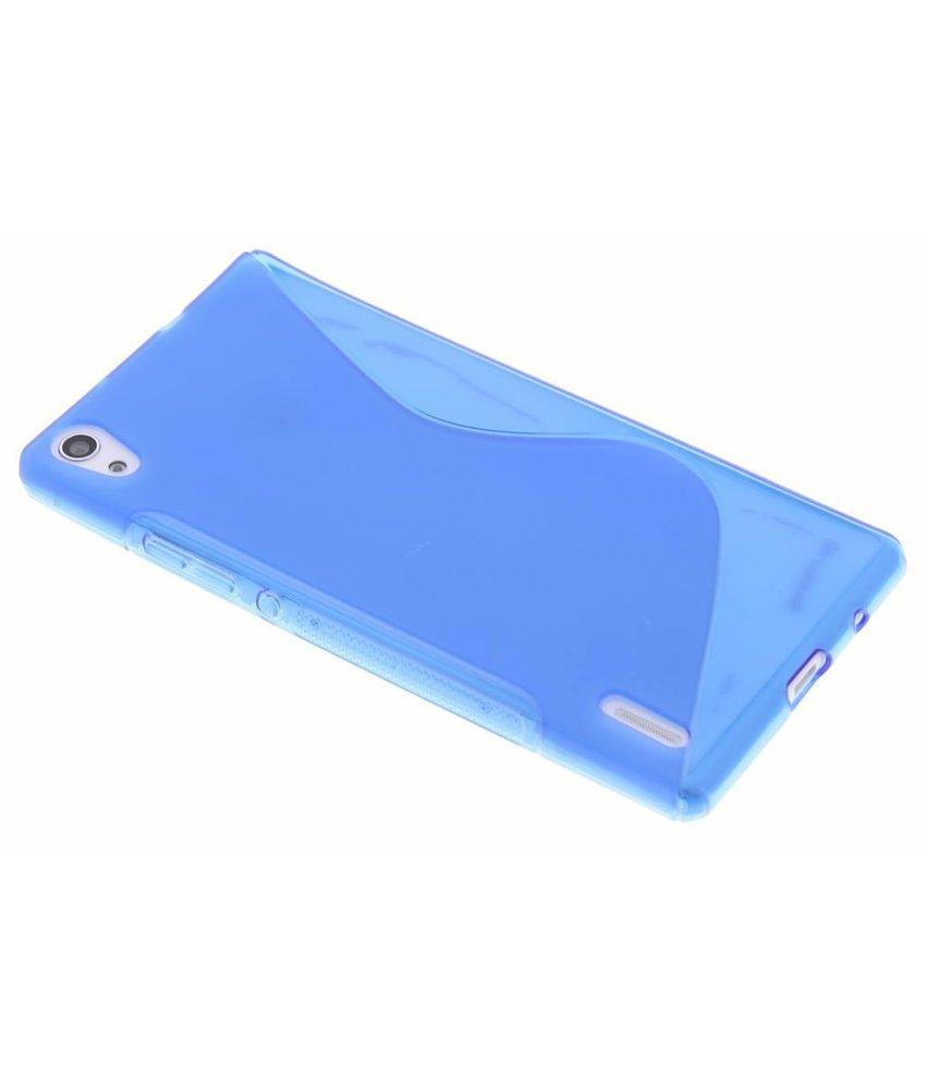 Blauw S-line TPU hoesje Huawei Ascend P7