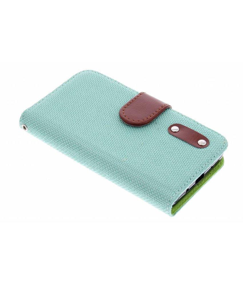Groen linnen look TPU booktype hoes Huawei Ascend Y530
