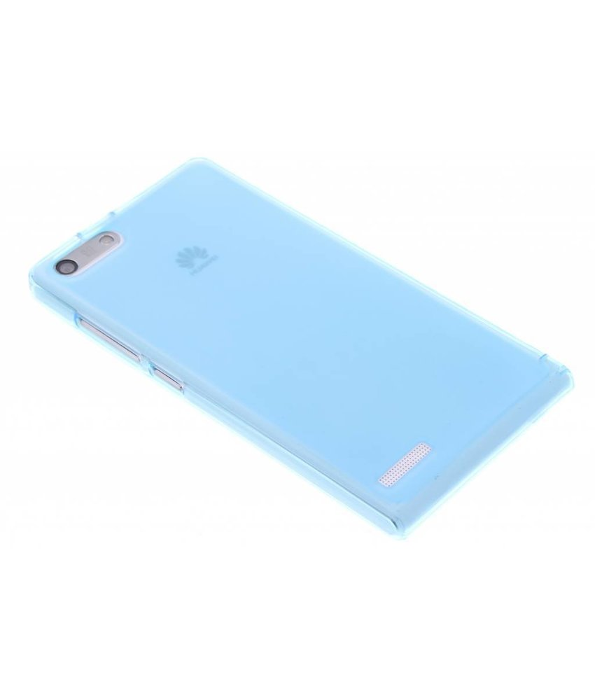 Turquoise hard siliconen hoesje Huawei Ascend G6