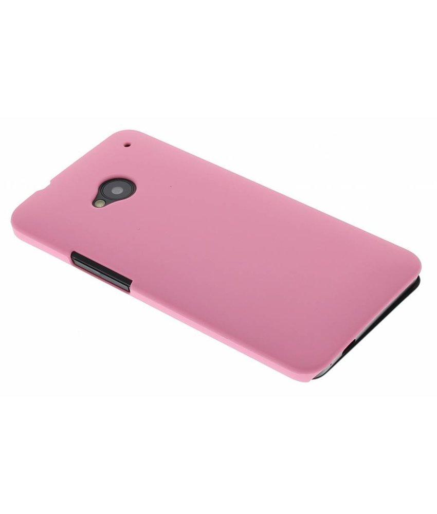 Roze effen hardcase HTC One