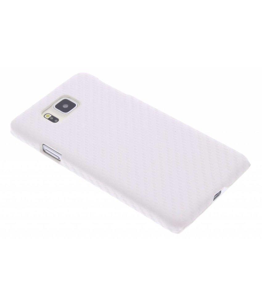 Wit carbon look hardcase Samsung Galaxy Alpha