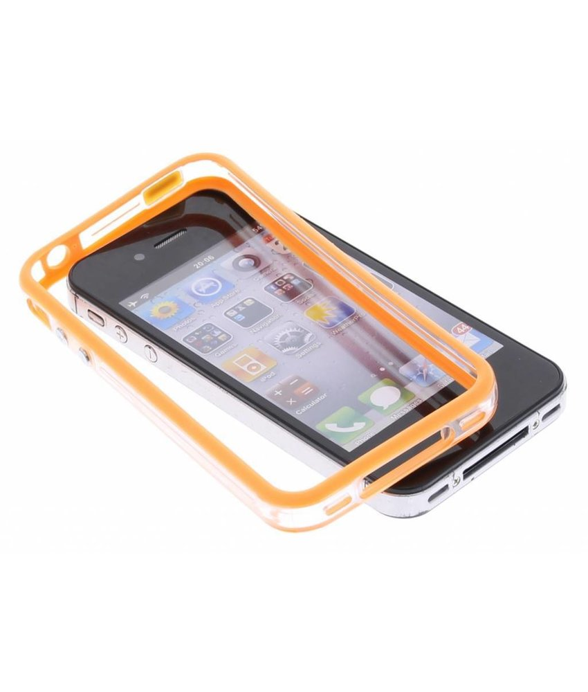 Oranje transparante bumper iPhone 4 / 4s
