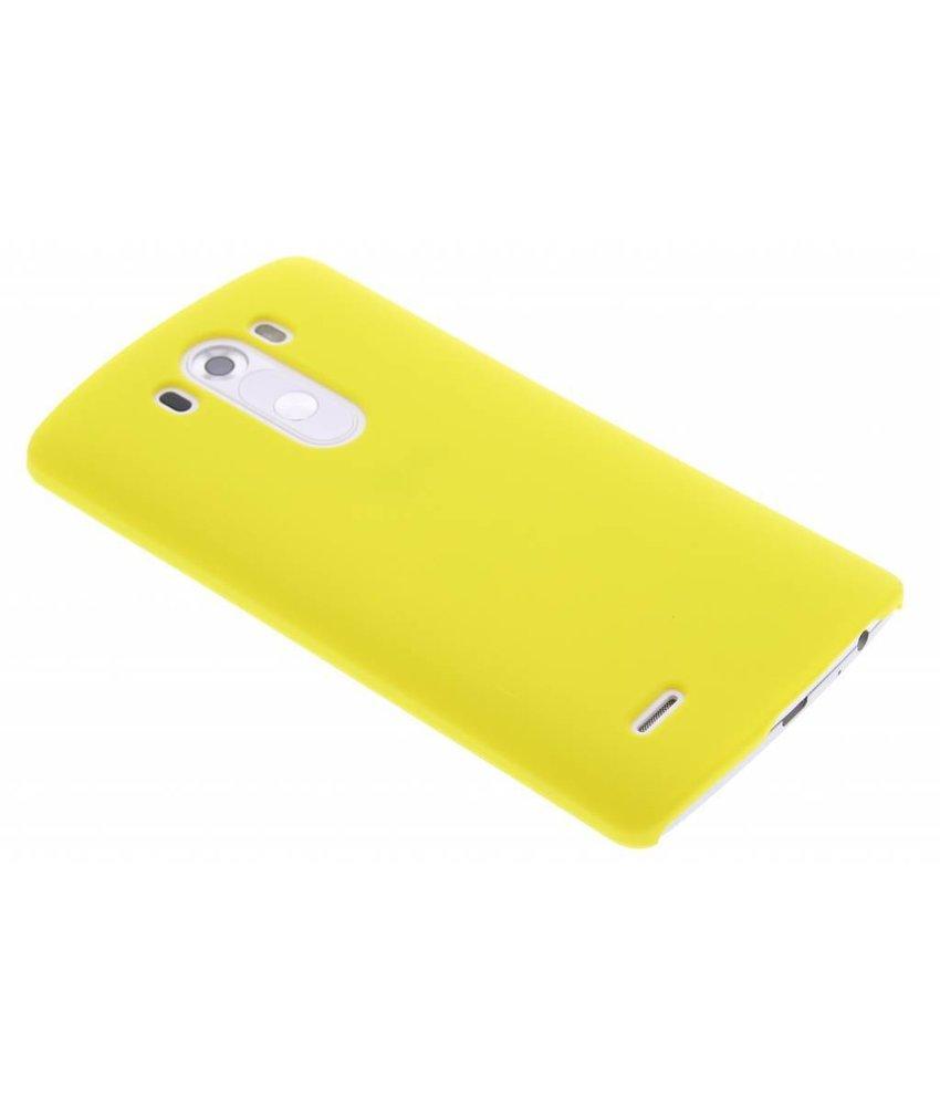Geel effen hardcase hoesje LG G3